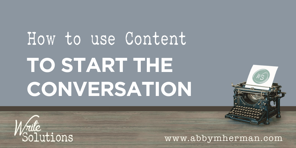 How to use content to start the conversation image