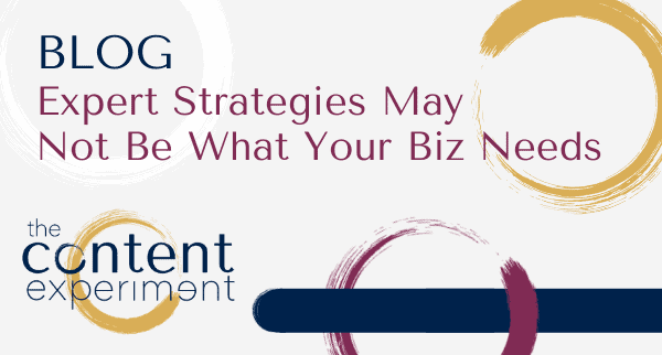 expert strategies not what you need