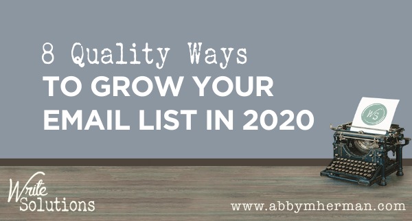 grow your email list 2020