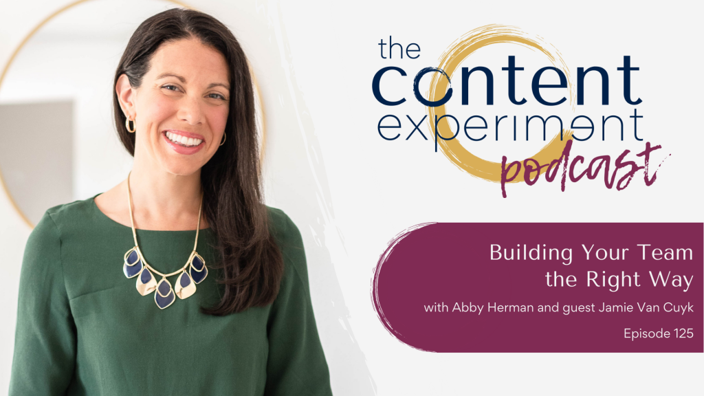Building Your Team the Right Way with Jamie Van Cuyk